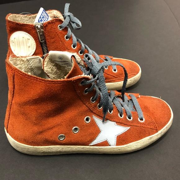 c6104ec0114d Golden Goose Shoes - Golden Goose Francy hightop burnt suede sneaker